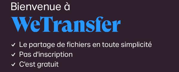 Service de partage de fichiers en ligne We Transfer