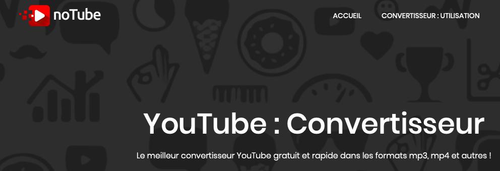 NoTube Convertisseur YouTube