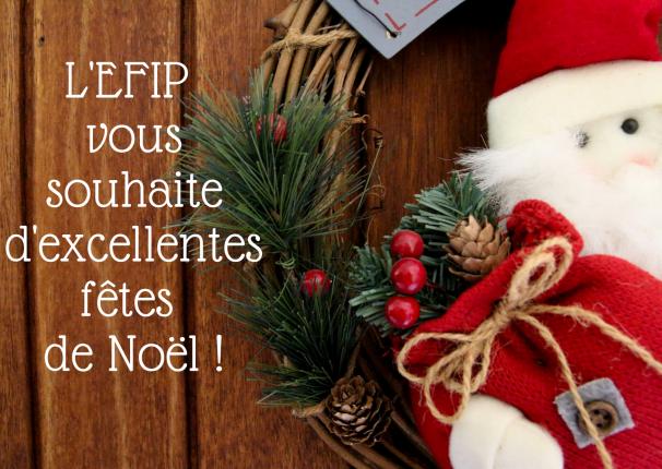L'EFIP vous souhaite d'excellentes fêtes de Noël.