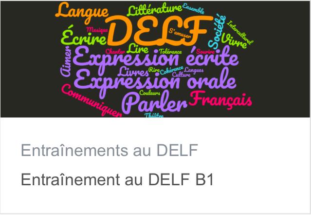 DELF B1 - Écran d'accueil