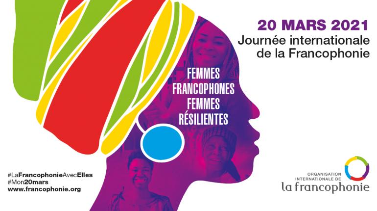 Affiche Fête de la Francophonie 2021.