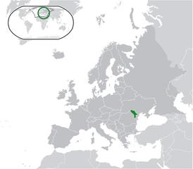 Localisation de la Moldavie dans le monde
