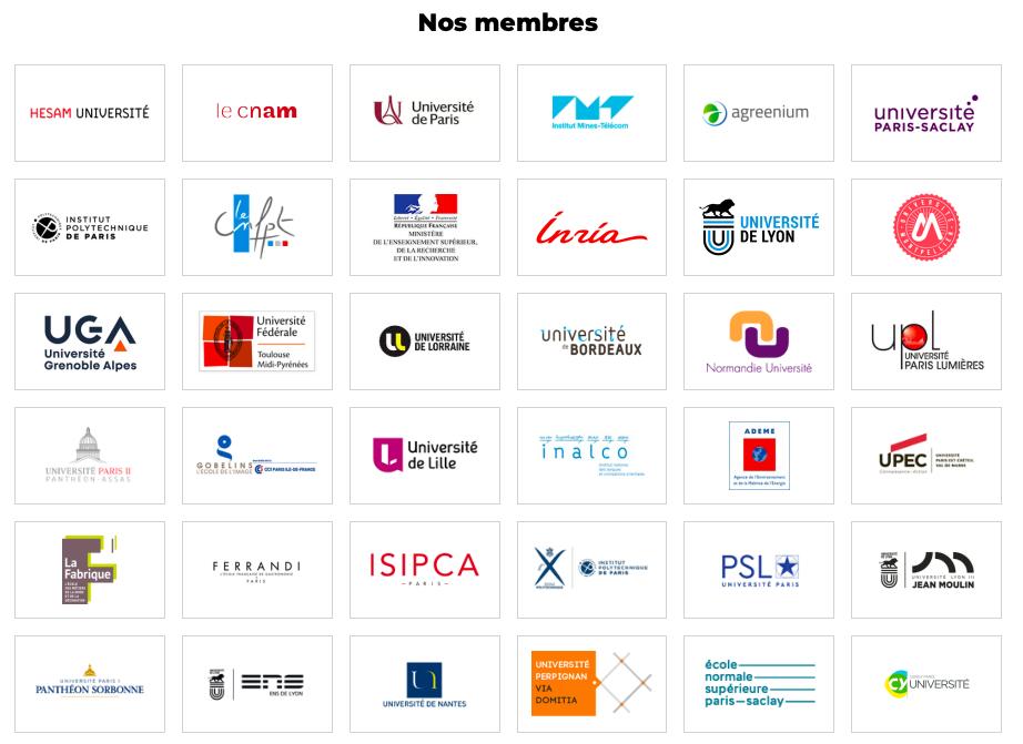 Quelques établissements universitaires membres de FUN-MOOC